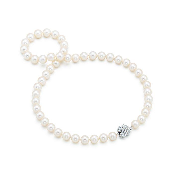 63c5984f1c0242 Tiffany Signature™ Akoya Pearl Necklace | Tiffany & Co.