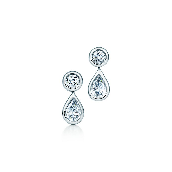 81934a7ed Elsa Peretti® Diamonds by the Yard® earrings in platinum. | Tiffany ...