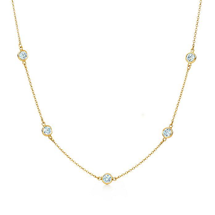 1e185c2ef Elsa Peretti® Diamonds by the Yard® 18K Gold Necklace | Tiffany & Co.