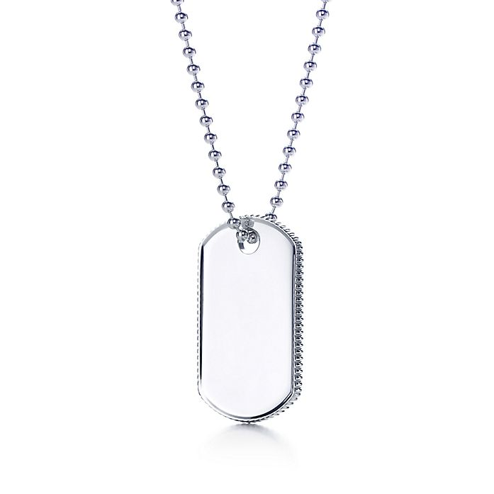 a89996772 Coin Edge tag pendant in sterling silver. | Tiffany & Co.