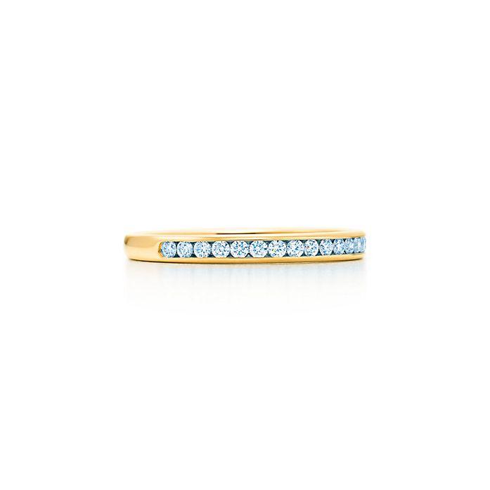828df20bb4b8 Argolla de matrimonio Tiffany® con diamantes en oro de 18k