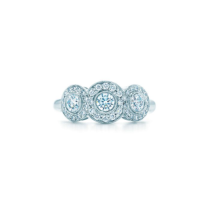 98a0041f5 Tiffany Circlet ring of diamonds in platinum. | Tiffany & Co.