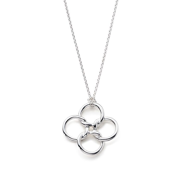3caacfc42 Elsa Peretti® Quadrifoglio™ pendant in sterling silver, medium ...