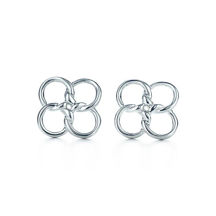 6a406e039 Elsa Peretti® Quadrifoglio™ earrings in sterling silver. | Tiffany & Co.