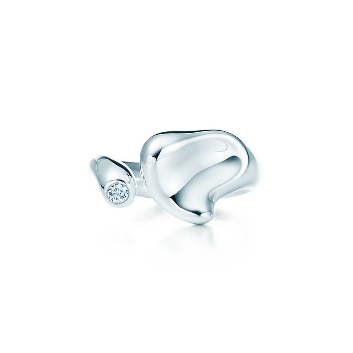 ae2001942 Elsa Peretti® Full Heart ring with a diamond in sterling silver ...