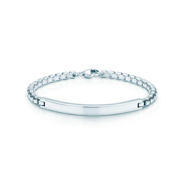 34f51e85b75e8 Venetian Link I.D. men's bracelet in sterling silver. | Tiffany & Co.