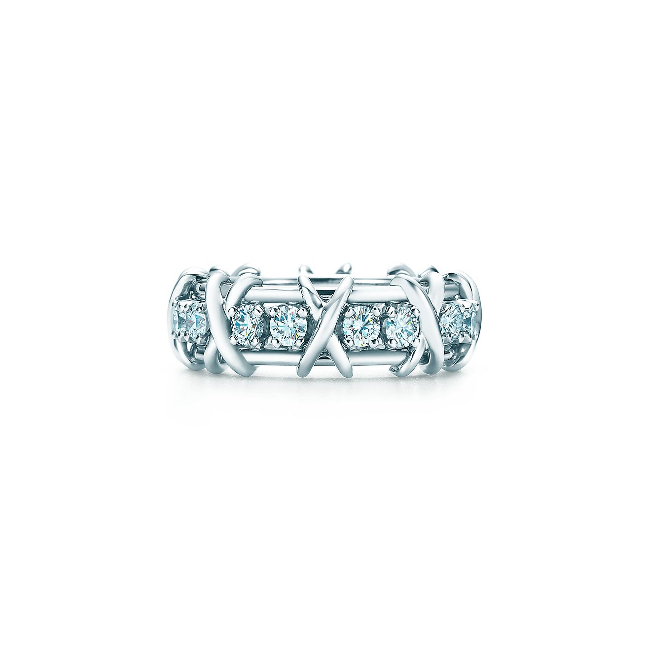 Tiffany Co Schlumberger Sixteen Stone Ring In Platinum With