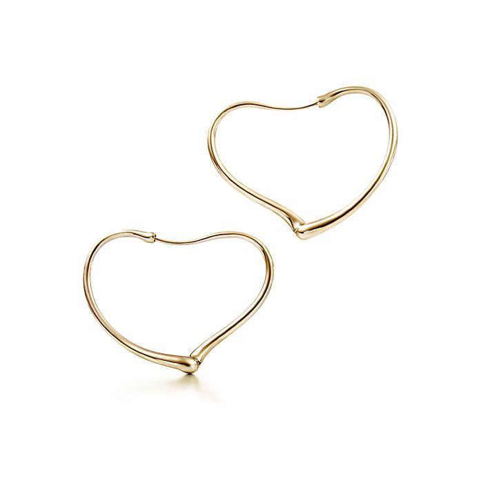 c4e4092174e1 Aretes circulares Open Heart Elsa Peretti® en oro de 18 quilates ...