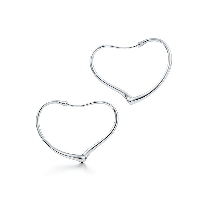 4fd7dcd6d Elsa Peretti® Open Heart hoop earrings in sterling silver, medium ...
