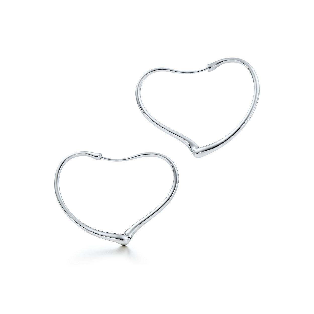 Elsa Peretti Open Heart Hoop Earrings