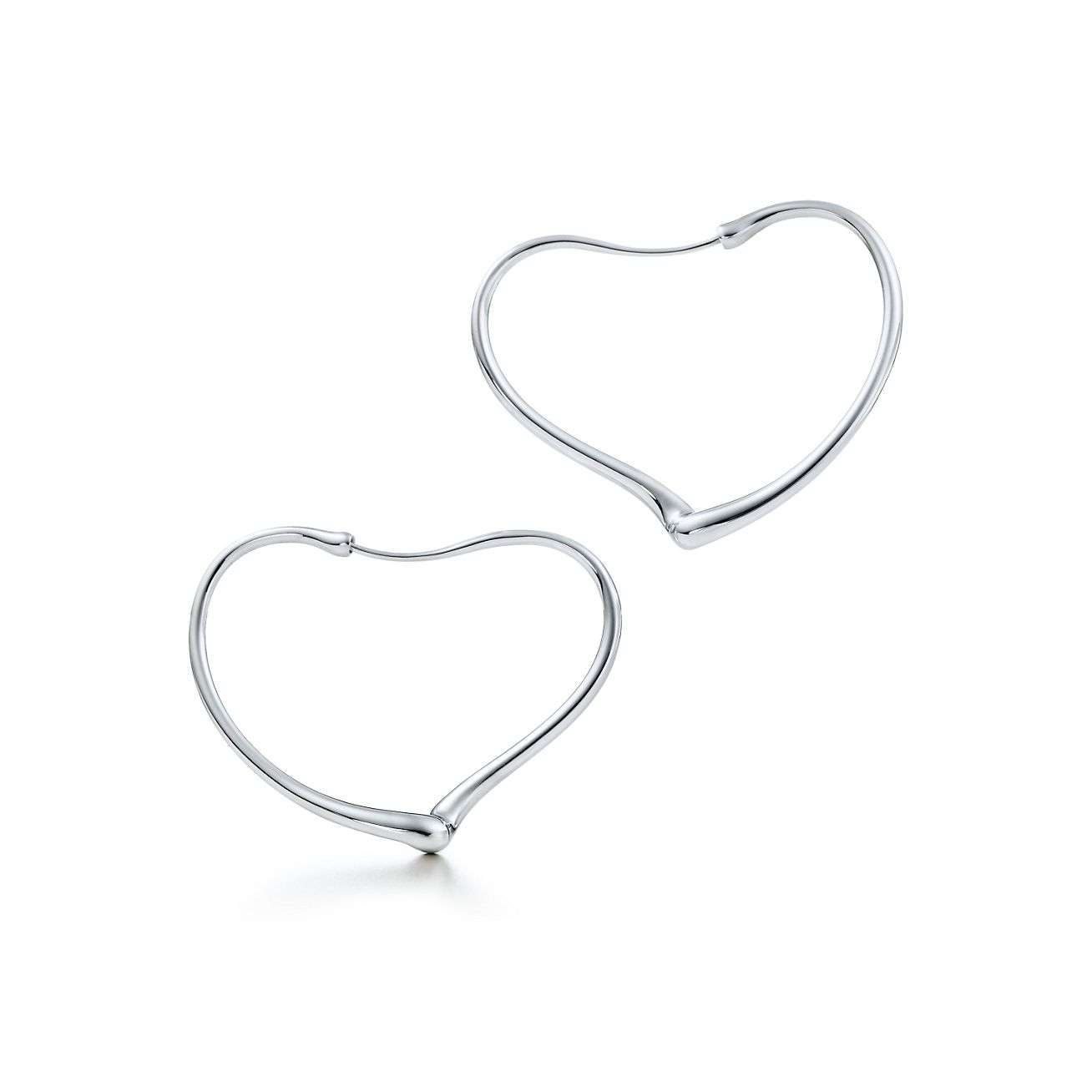 Elsa Peretti Open Heart Hoop Earrings