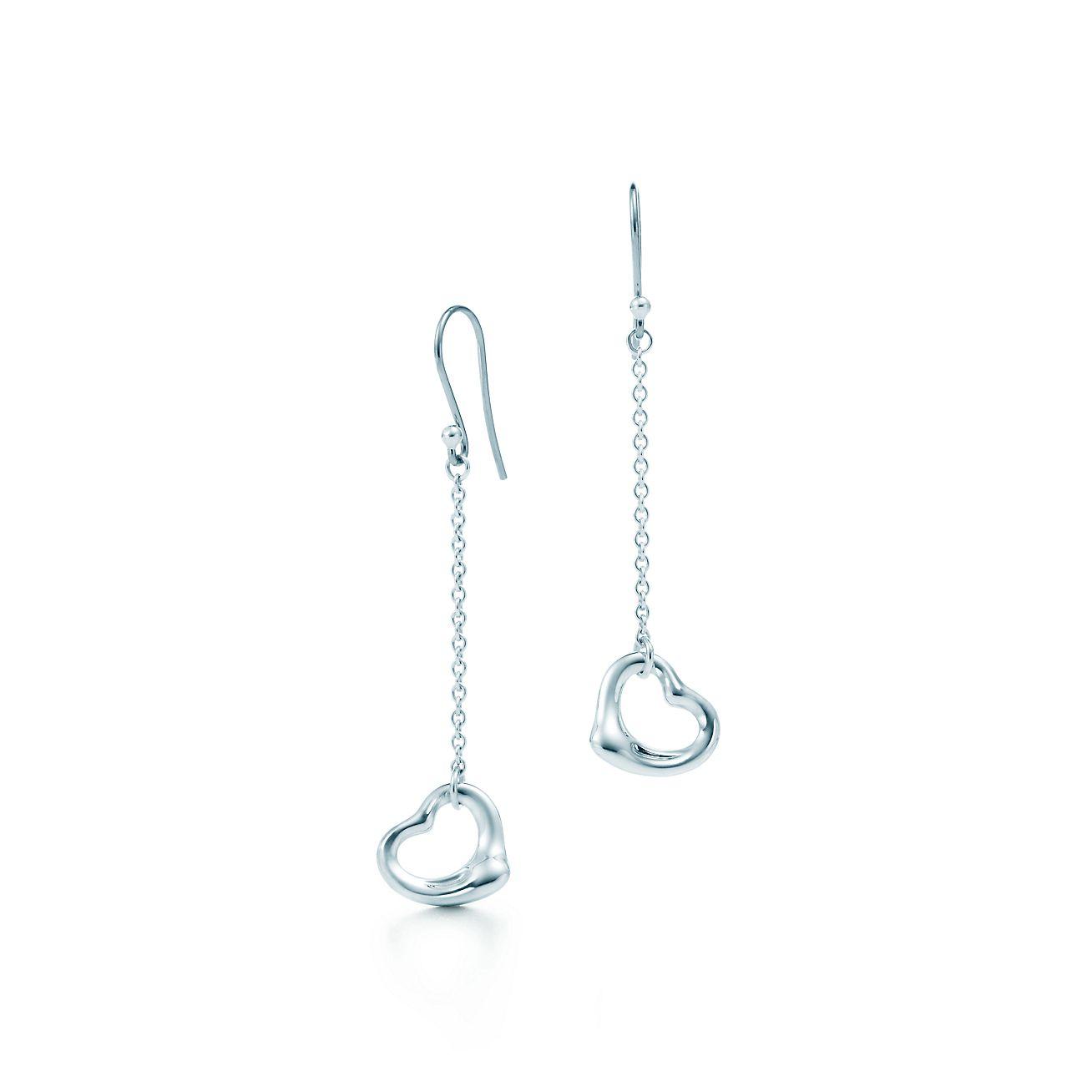 Elsa Peretti Open Heart Drop Earrings