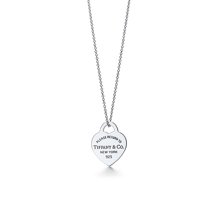5fb1f8bd6 Return to Tiffany™ heart tag pendant in sterling silver. | Tiffany & Co.