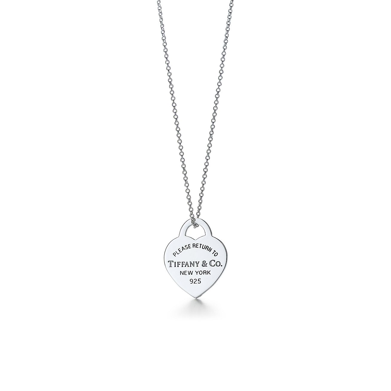 Return to Tiffany heart tag pendant in sterling silver, small - Size 18 in Tiffany & Co.