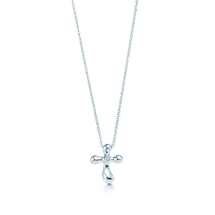 22fba6bd1 Elsa Peretti® Cross pendant. Diamonds, silver. | Tiffany & Co.