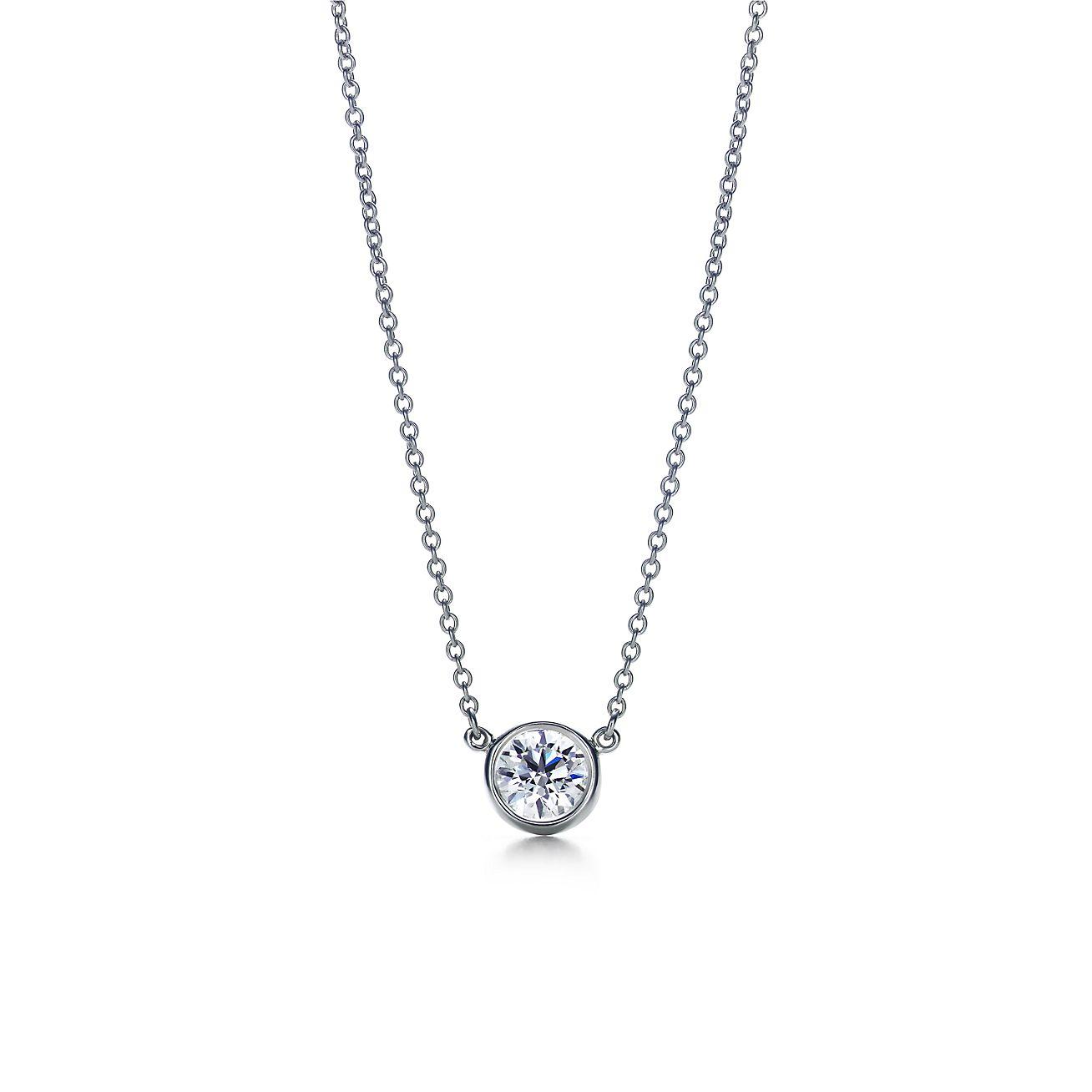 Elsa Peretti Diamonds by the Yard pendant in platinum Tiffany & Co.