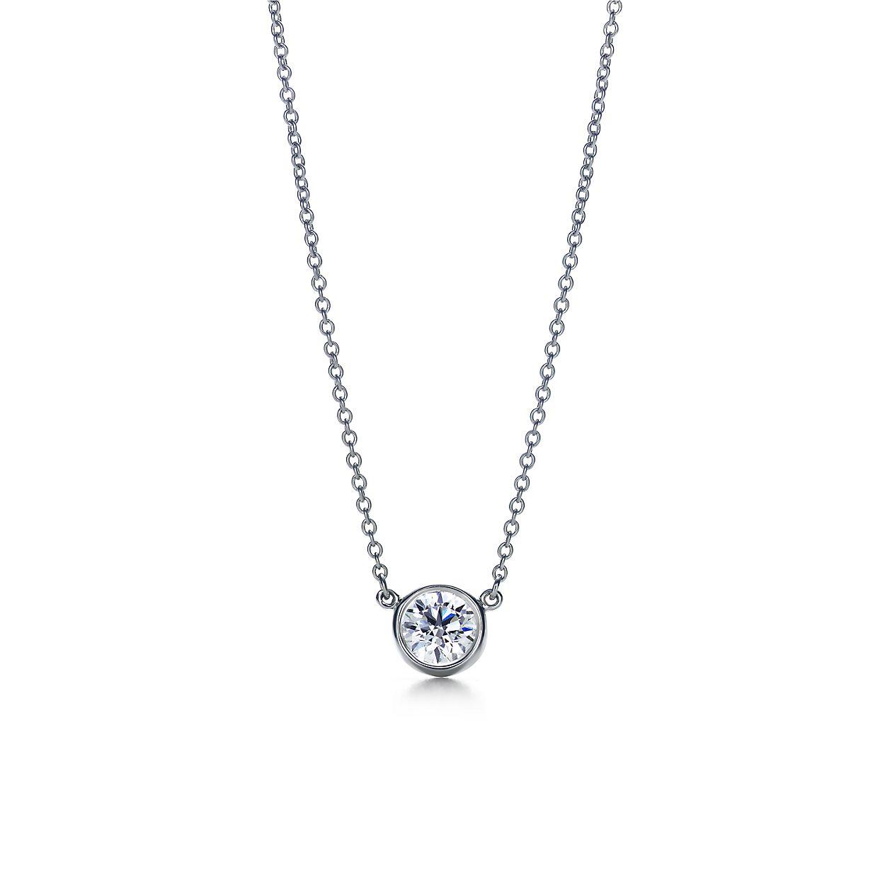 Elsa Peretti Diamonds by the Yard pendant in platinum Tiffany & Co. O8kCVbM2N