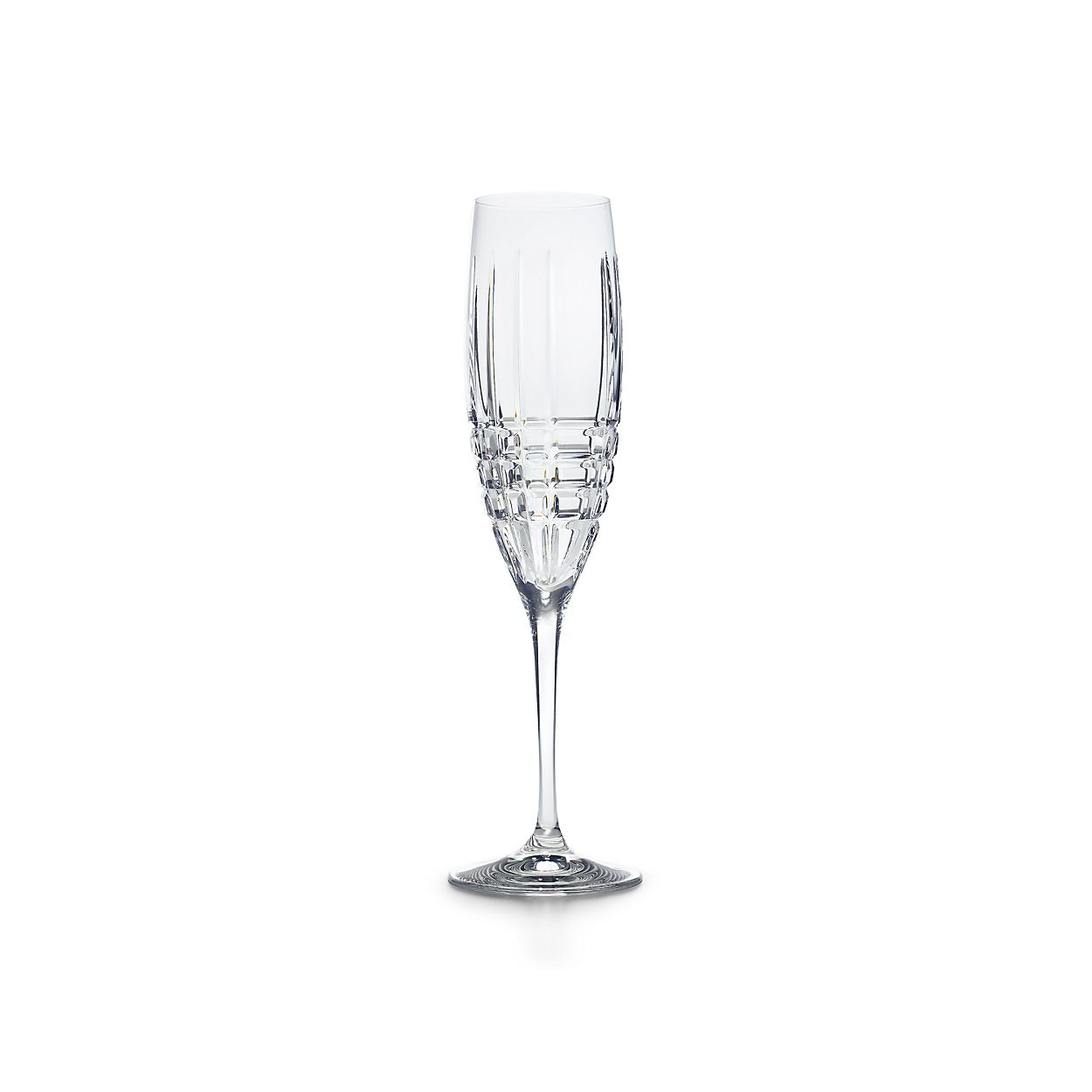 plaid champagne flute in crystal tiffany co