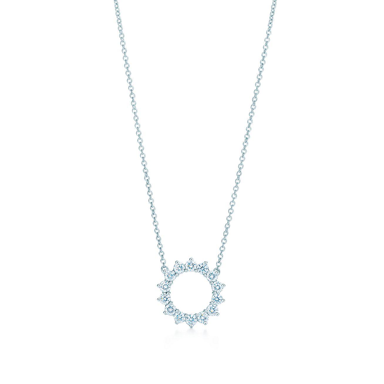 Open circle pendant of diamonds in platinum tiffany co open circle pendant aloadofball Choice Image