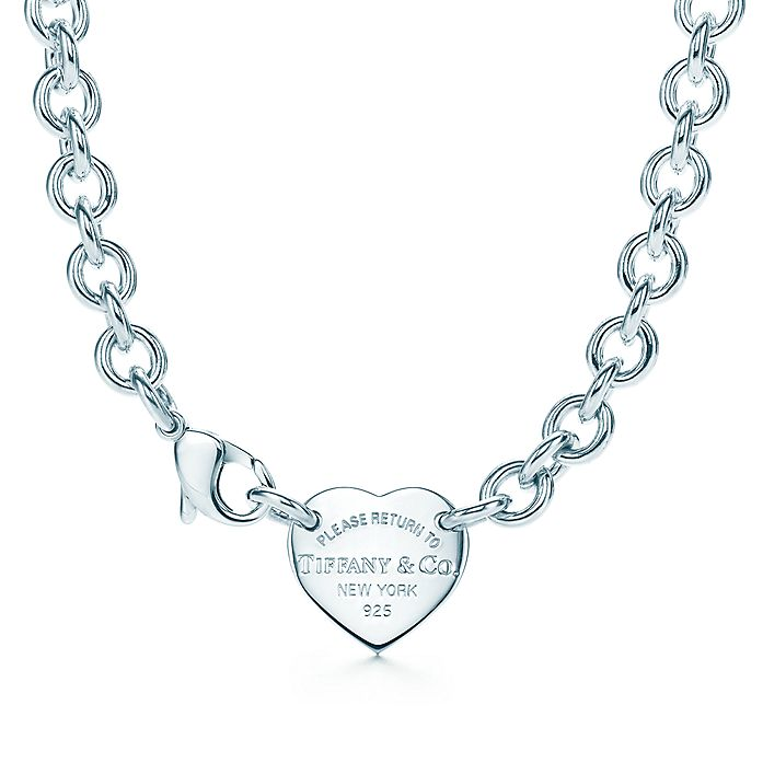 e69e7c6ef Return to Tiffany® heart tag choker in sterling silver. | Tiffany & Co.