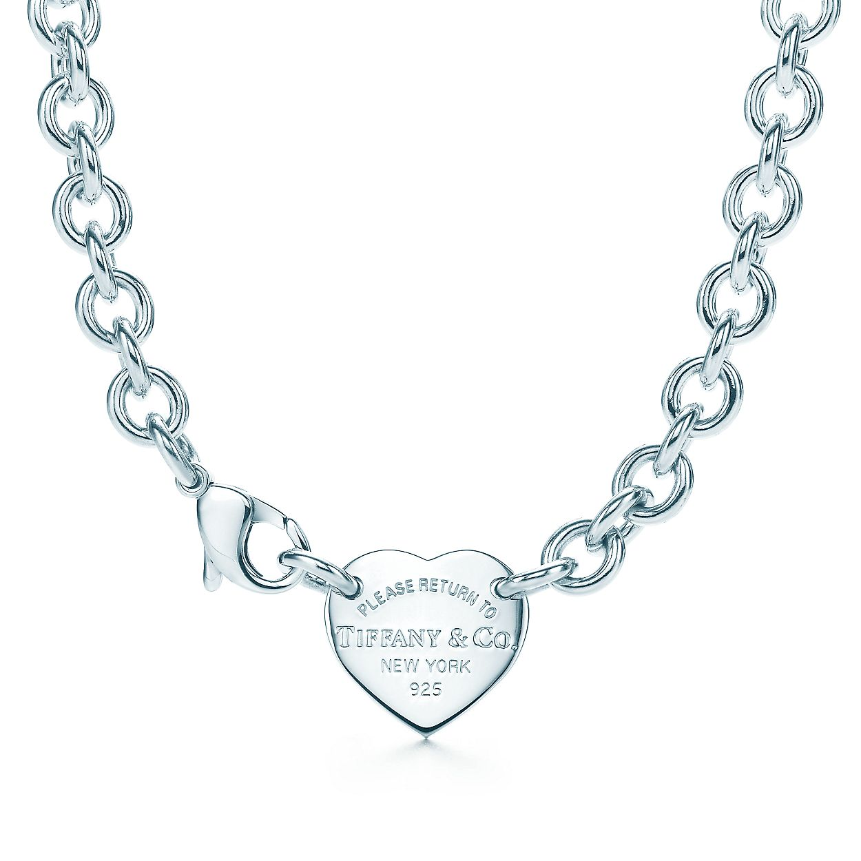 return to tiffany heart tag choker in sterling silver tiffany co