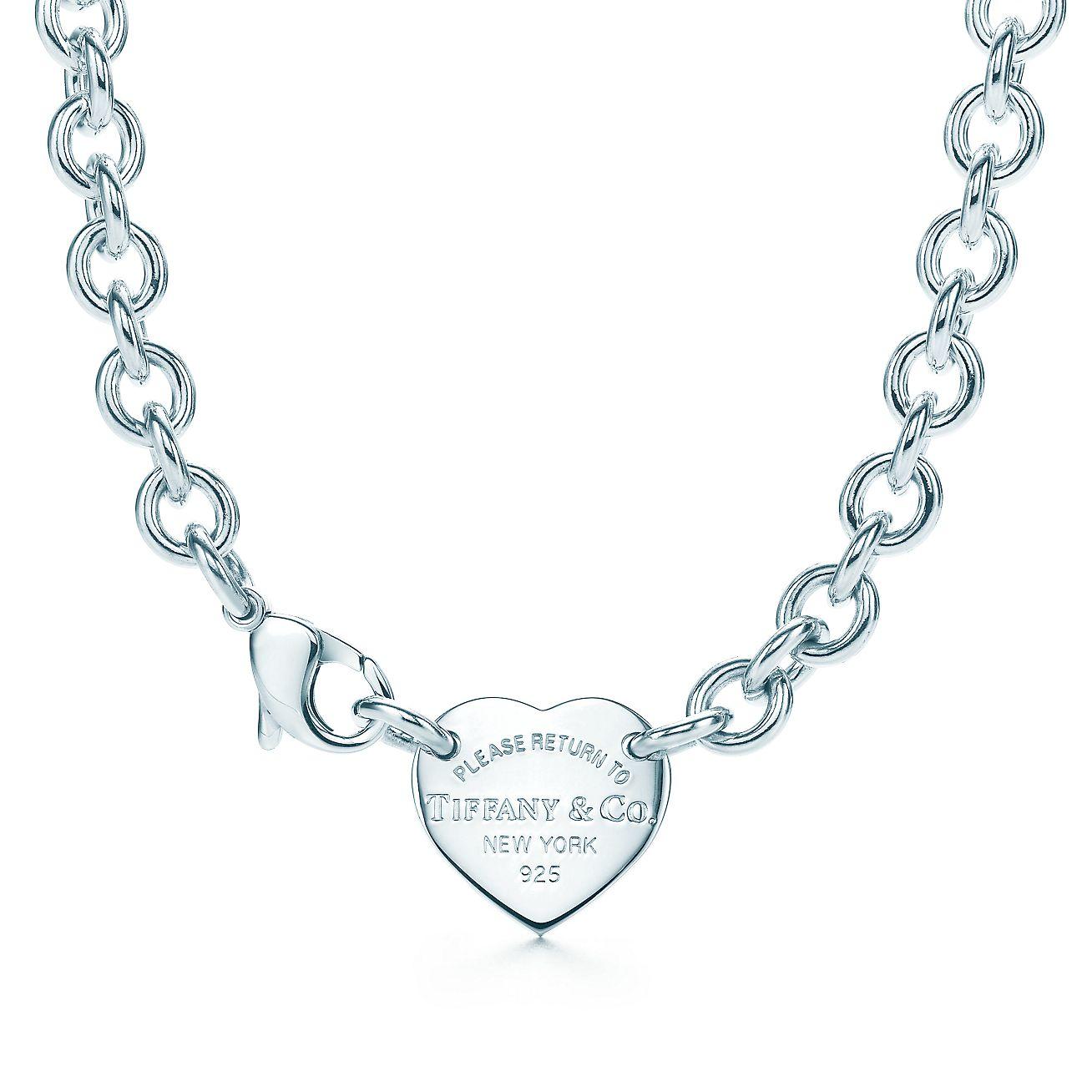 Return To Tiffany Heart Tag Choker