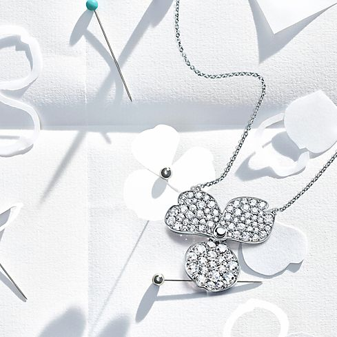 Tiffany paper flowers jewelry collection tiffany co these are flowers of the imagination as if scattered by the wind and pinned back together mightylinksfo