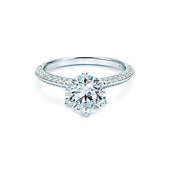 Tiffany Setting Wedding Bands Directional Right