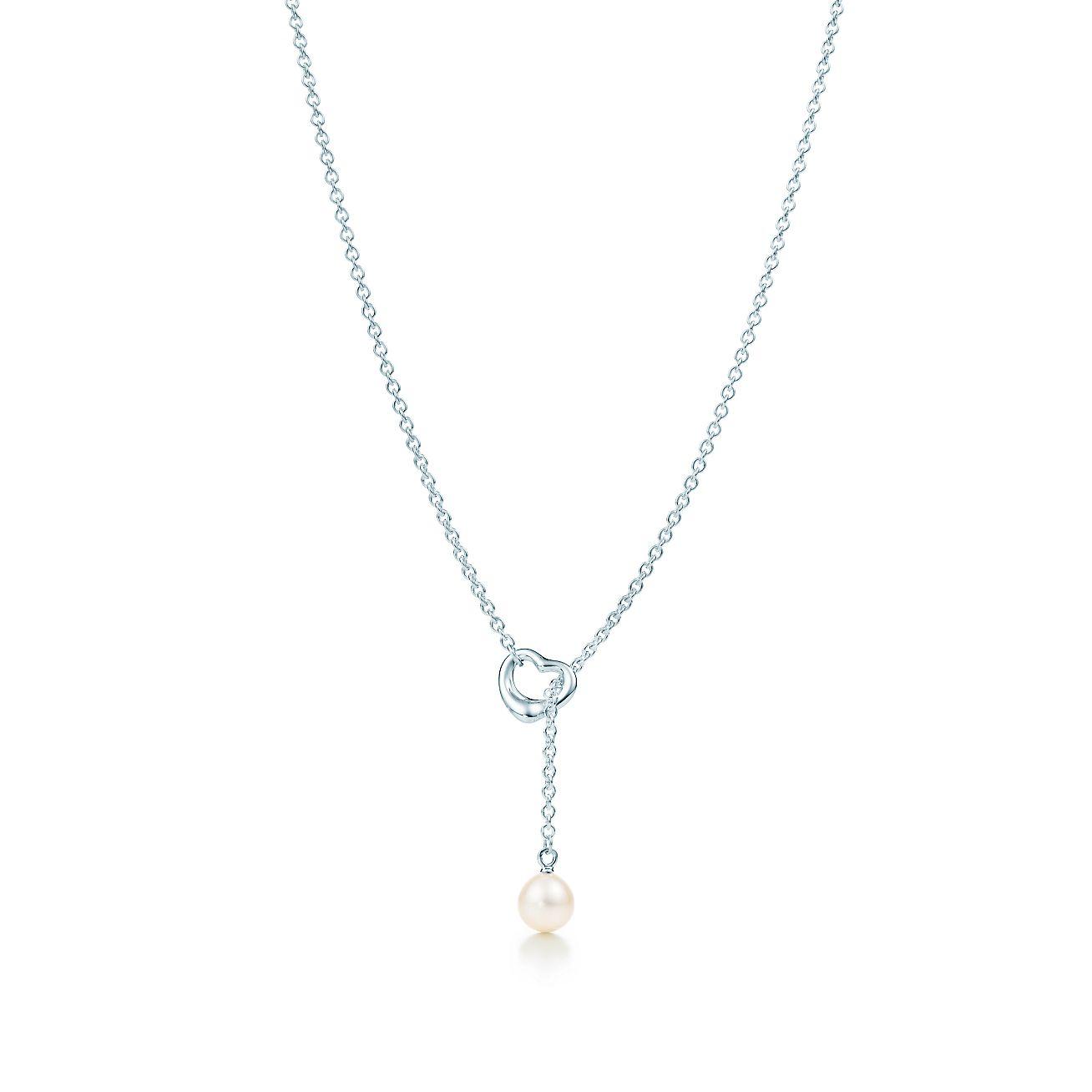 Elsa peretti open heart lariat in sterling silver with a freshwater elsa perettiopen heart lariat aloadofball Gallery