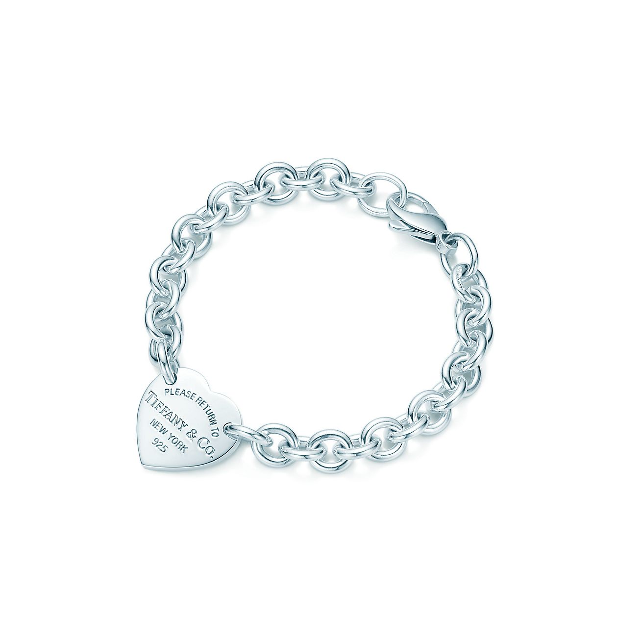 Return to Tiffany medium heart tag on a bracelet in sterling silver, medium - Size 7.5 IN Tiffany & Co.