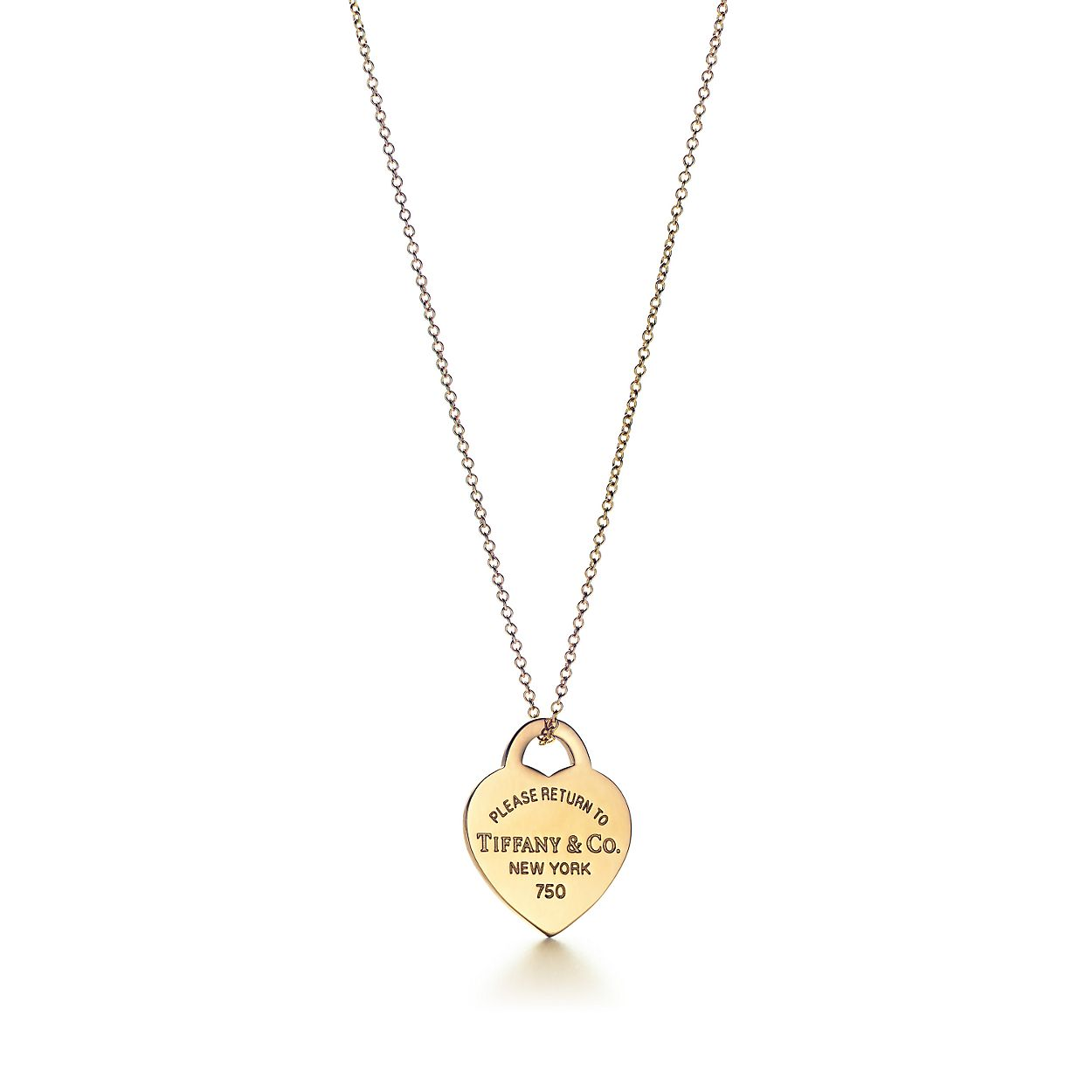 3364a841ed2b Return to Tiffany™ heart tag pendant in 18k gold