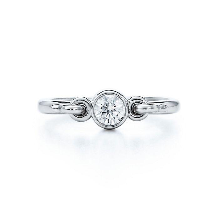 e54f301f4 Elsa Peretti™ Swan ring with a diamond in platinum. | Tiffany & Co.