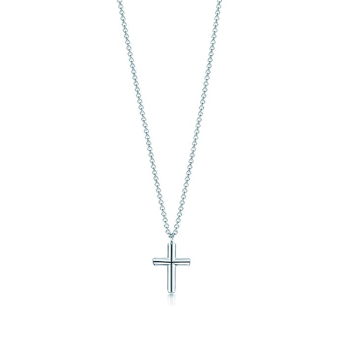953b17d73 Shop Sterling Silver Concave Cross Pendant Necklace | Tiffany & Co.