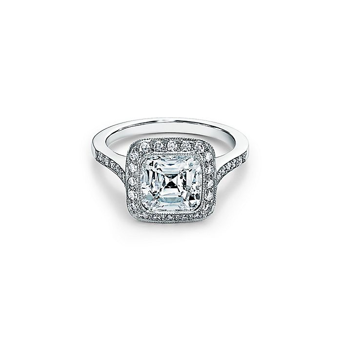 17c3c8e8cd3d0 Tiffany Legacy® Engagement Ring with a Diamond Band in Platinum