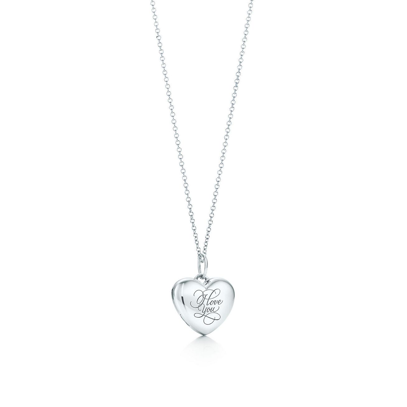 I love you heart locket in sterling silver on a chain tiffany co i love you heart locket pendant aloadofball Images