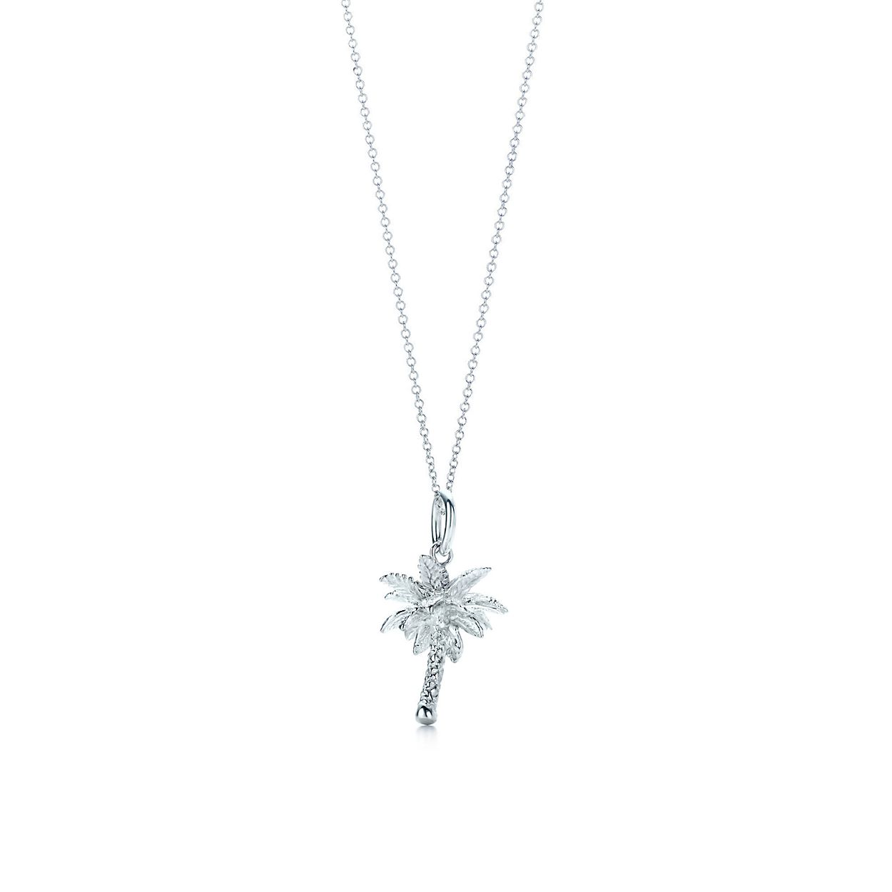 Palm tree charm in sterling silver on a chain tiffany co izmirmasajfo