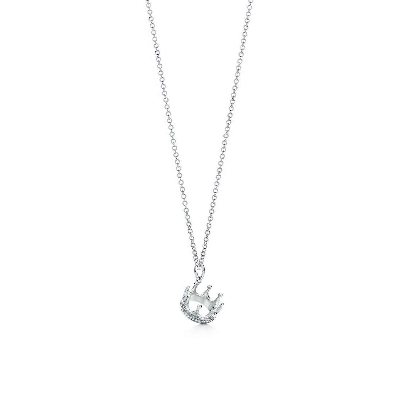 Crown charm in sterling silver on a chain.  e688e5f57f3a