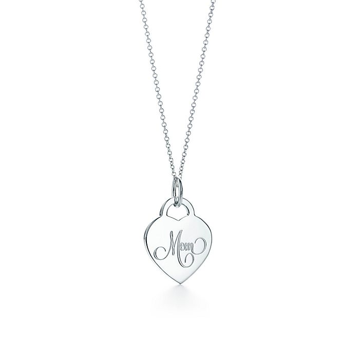 ae16580c7 Mom heart tag charm in sterling silver on a chain. | Tiffany & Co.