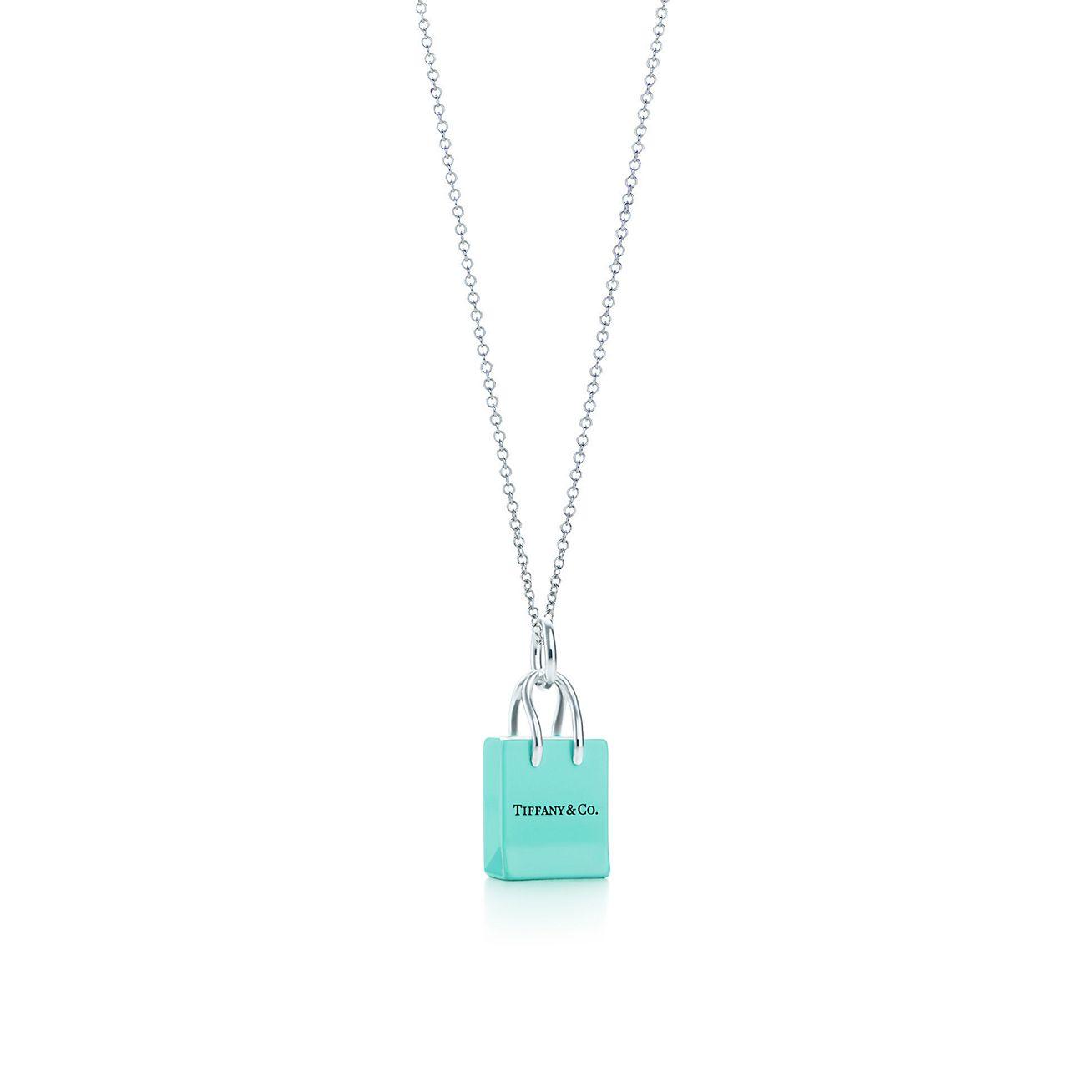 Handbag charm in sterling silver with Tiffany Blue enamel finish Tiffany & Co.
