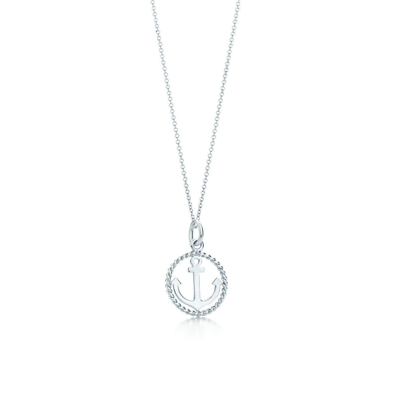 Tiffany twist anchor charm in sterling silver on a chain small tiffany twistanchor charm and chain aloadofball Image collections