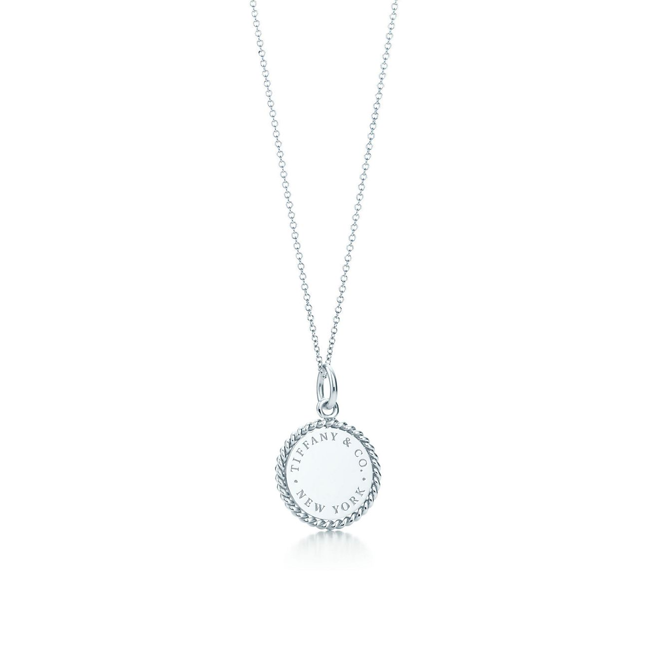 Tiffany Twist round charm in sterling silver, small Tiffany & Co.