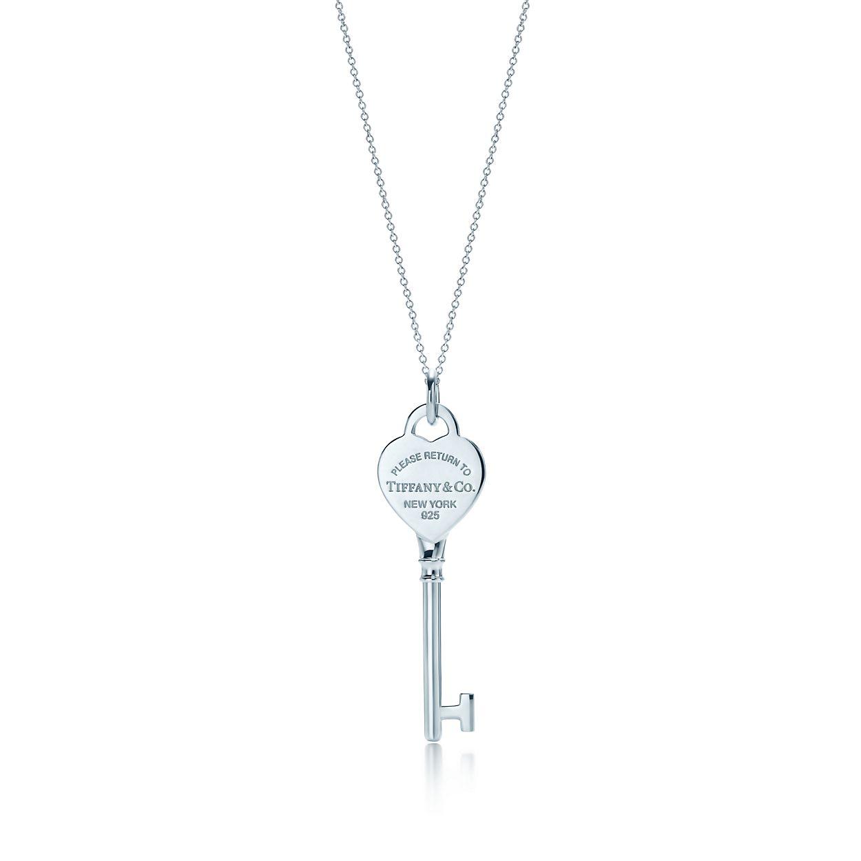 Tiffany Keys Return to Tiffany round key pendant in 18k gold Tiffany & Co. 4G3Um
