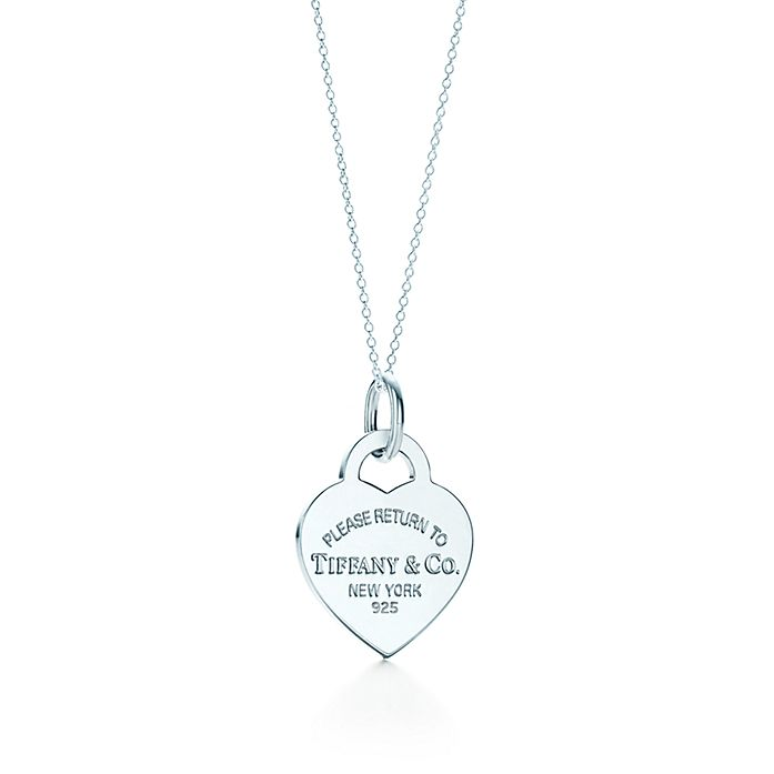 1ea1bf2aa Return to Tiffany™ heart tag charm in sterling silver on a chain ...