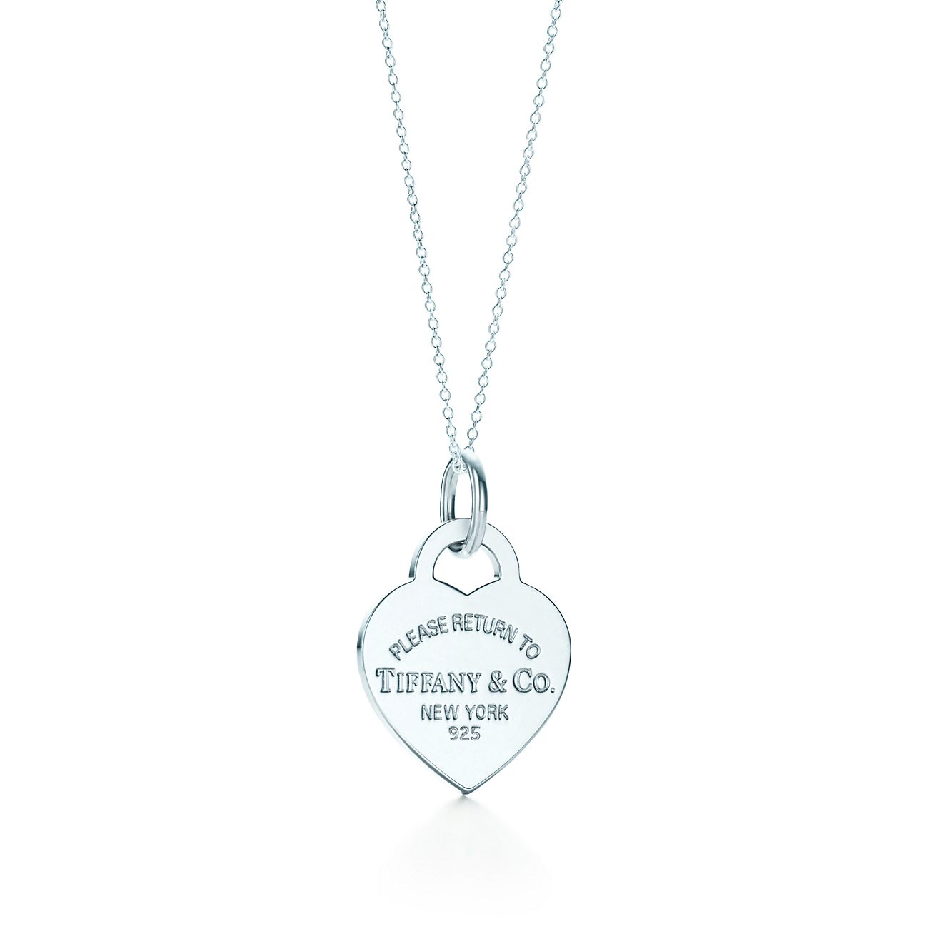 Return To Tiffany Heart Tag Charm And Chain