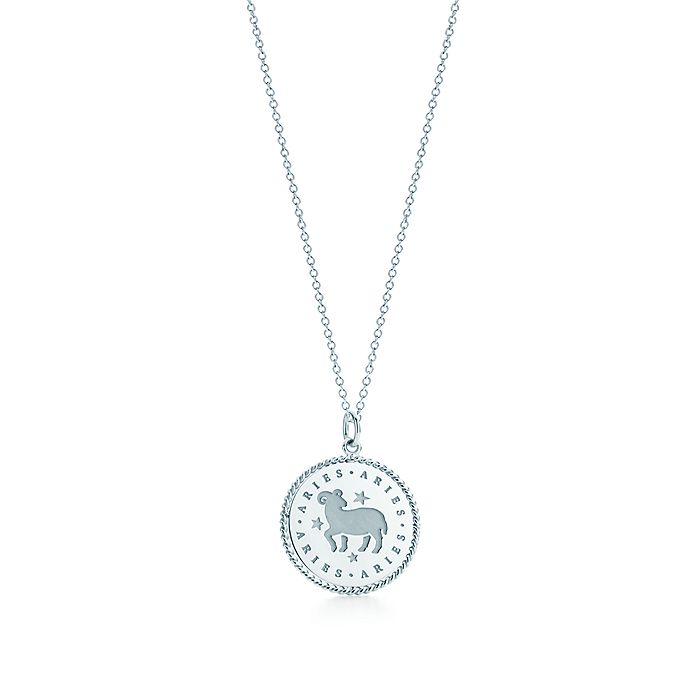 ac7abd076208d Zodiac charm in sterling silver on a chain. All signs available ...