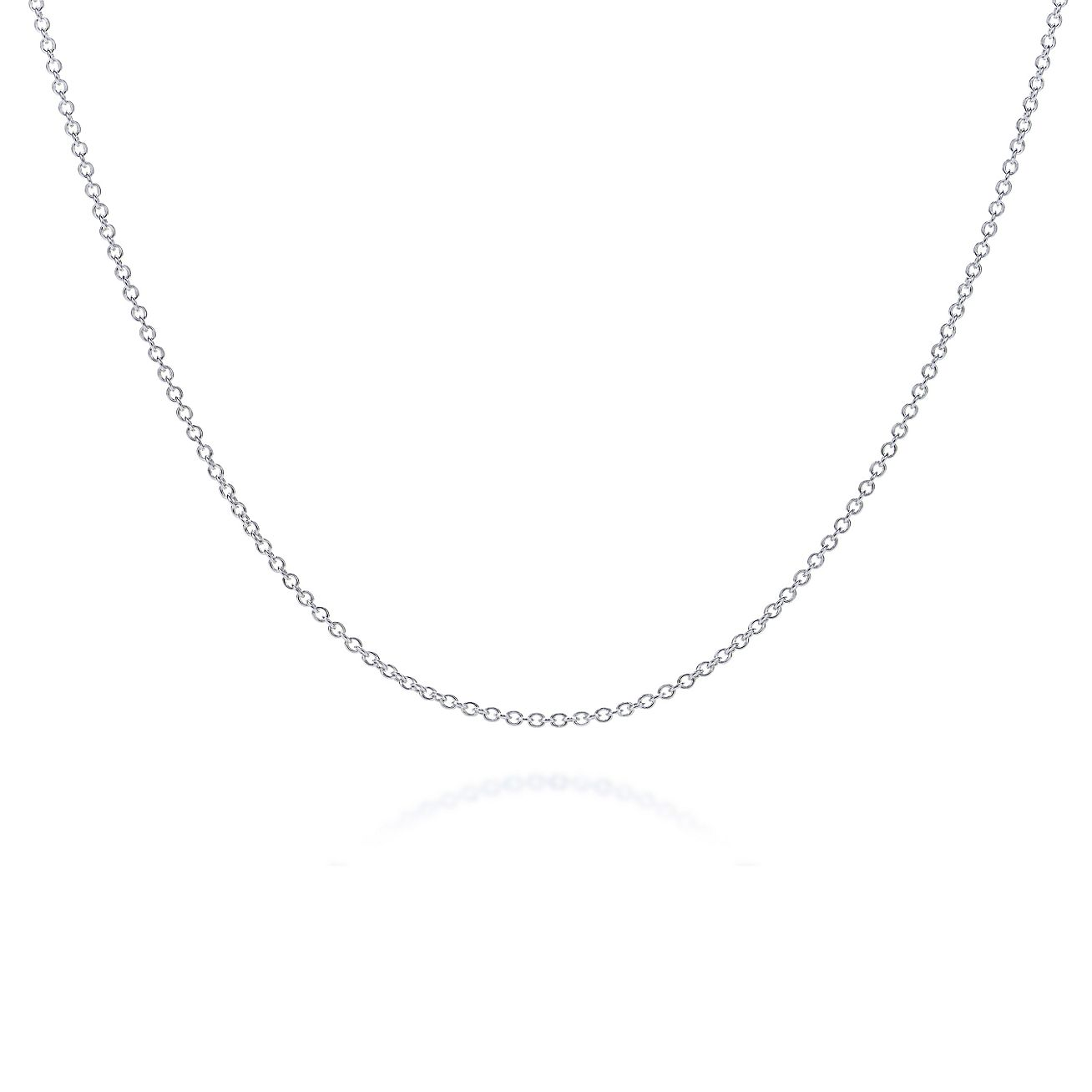 com web chain chains silver pendant plain short