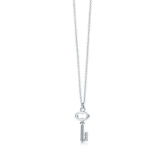 8d4e7c8ac Tiffany Keys T&CO.® key pendant in sterling silver, mini. | Tiffany ...