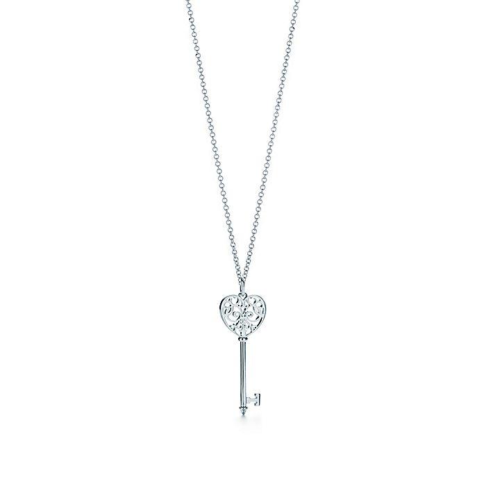 61c34a4b2 Tiffany Keys Enchant heart key pendant in sterling silver, medium ...
