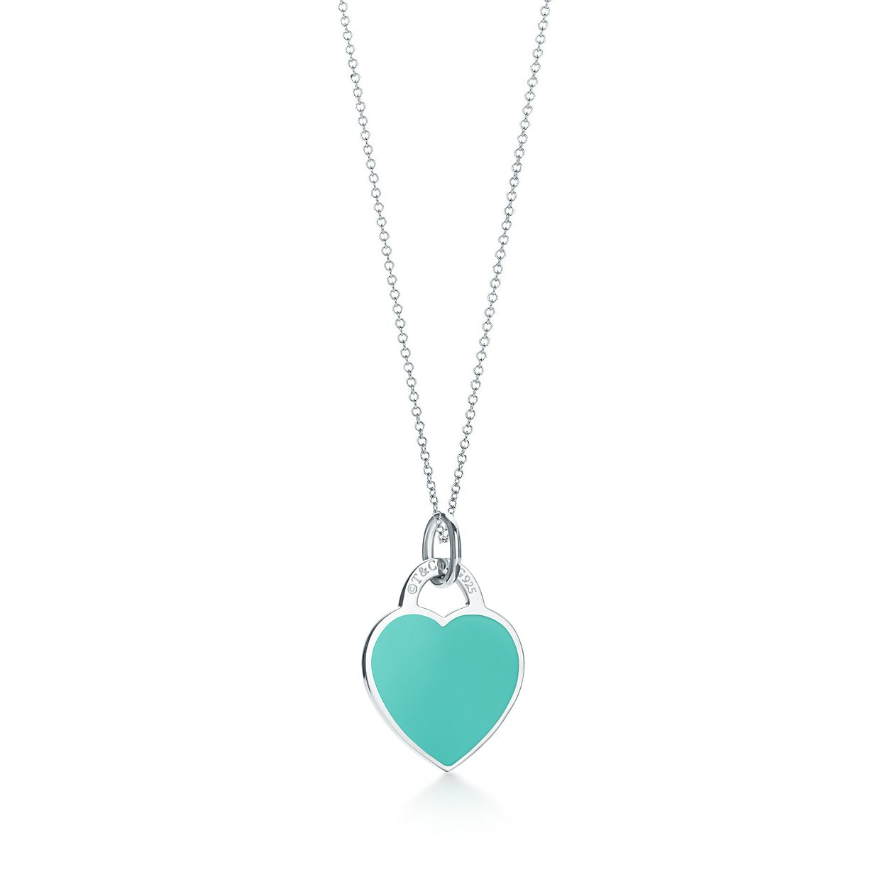 Return to Tiffany Love heart earrings in silver with enamel finish, mini Tiffany & Co.