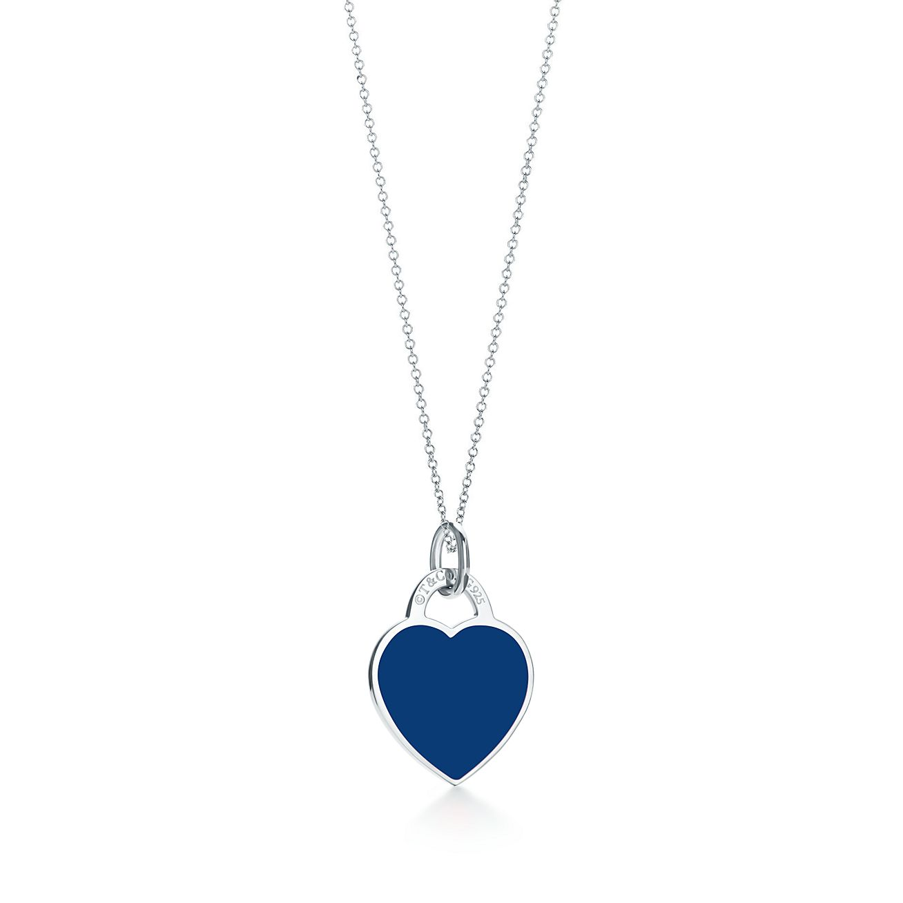 Return to Tiffany heart tag charm in sterling silver with enamel finish, small Tiffany & Co.